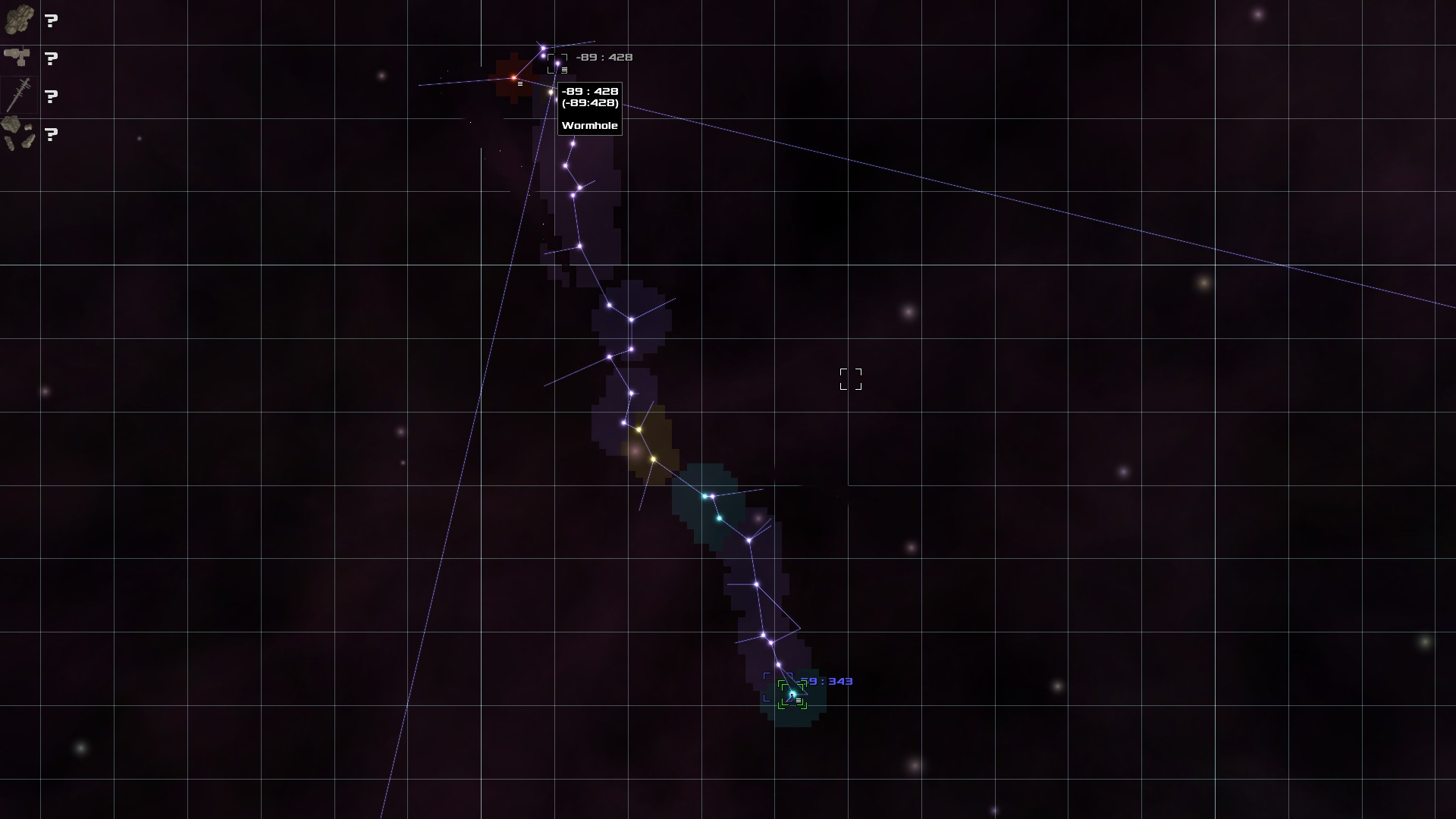 closer map of the north of the galaxy