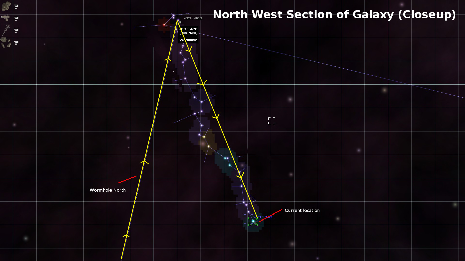 North Section of Galaxy - through Wormhole